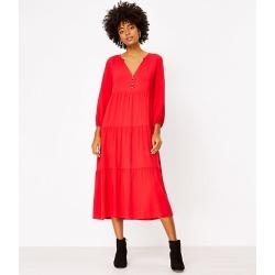 Loft Tiered Midi Dress found on Bargain Bro from loft.com for USD $37.99