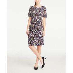 Ann Taylor Striped Side Tie Dress