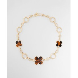 Ann Taylor Tortoiseshell Print Clover Statement Necklace found on Bargain Bro from anntaylor.com for USD $52.82