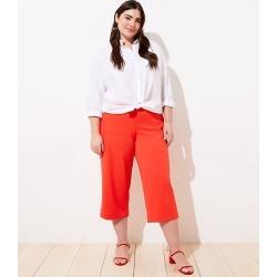 Loft Plus Pull On Wide Leg Pants Size 26 Vivid Orange Women's found on Bargain Bro Philippines from loft.com for $59.99