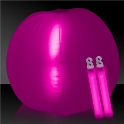 "Glow in the Dark Pink 24"" Beach Ball by Windy City Novelties"