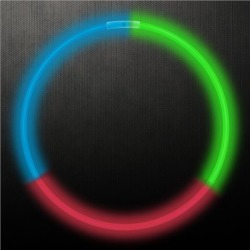 """Green, Red and Blue 22"""" Glow Necklaces by Windy City Novelties"""