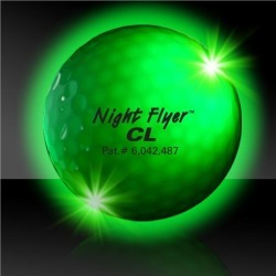 Night Flyer Golf Ball Constant On Green LED's by Windy City Novelties