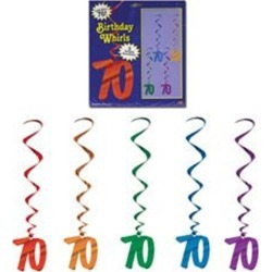 70 Whirl Decorations by Windy City Novelties