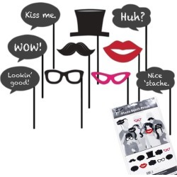 Black Tie Photo Booth Prop Kit by Windy City Novelties