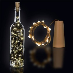 White LED Cork String Light Set by Windy City Novelties