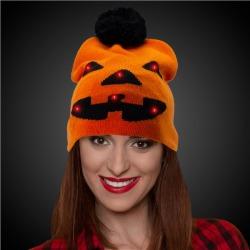 LED Pumpkin Knit Hat Beanie by Windy City Novelties