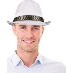 White Funky Fedora Hat by Windy City Novelties
