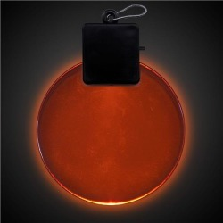Orange LED and Light - Up Round Medallion by Windy City Novelties