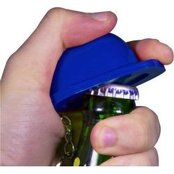 Blue Construction Hat Bottle Opener Keychain by Windy City Novelties