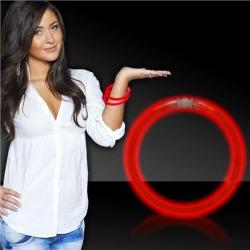 """Red 8"""" Glow Bracelets by Windy City Novelties"""