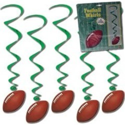 Football Whirl Decorations by Windy City Novelties