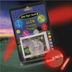 Red Glow Flyer Golf Ball by Windy City Novelties