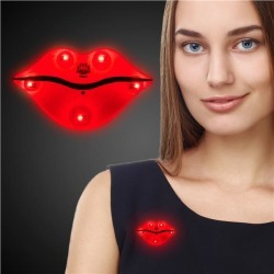 LED Red Lips Blinkies by Windy City Novelties