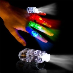 LED Finger Light Rings by Windy City Novelties