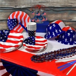 Patriotic Party Kit - 8 Guests by Windy City Novelties