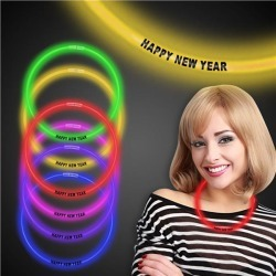 """New Year 22"""" Glow Necklaces by Windy City Novelties"""