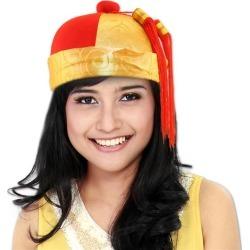 Red & Gold Mandarin Hat by Windy City Novelties