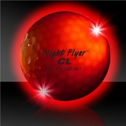 Night Flyer Golf Ball Constant On Red LED's by Windy City Novelties