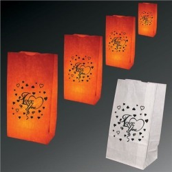 I Love You Luminary Bags - 50 Per Unit by Windy City Novelties found on Bargain Bro India from Windy City Novelties for $18.90