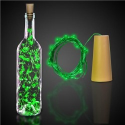 Green LED Cork String Light Set by Windy City Novelties