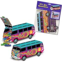"60's Hippie Bus 9 3/4""Centerpiece by Windy City Novelties"