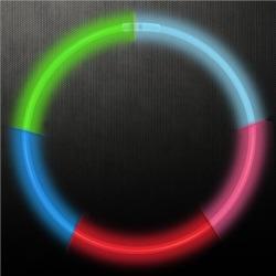 "Rainbow 22"" Glow Necklaces by Windy City Novelties"
