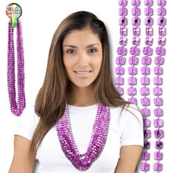 """Pink Dice Bead 33"""" Necklaces by Windy City Novelties"""