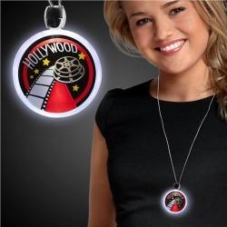 LED Hollywood Pendant Necklace by Windy City Novelties