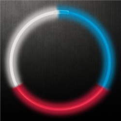 """Patriotic Red, White & Blue 22"""" Glow Necklaces by Windy City Novelties"""