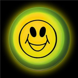 """Smiley Face 3"""" Glow Badge by Windy City Novelties"""