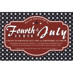 Patriotic 4th Party Invitations by Windy City Novelties