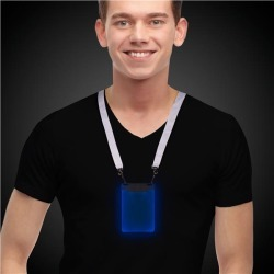 Blue Sound-Activated LED Badge by Windy City Novelties