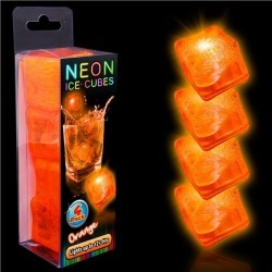 LED Neon Orange Ice Cubes by Windy City Novelties