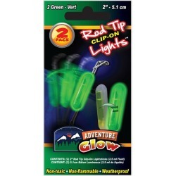 Green Glow Fishing Rod Clip On Light by Windy City Novelties