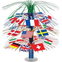 "International Flag Cascade 18"" Centerpiece by Windy City Novelties"