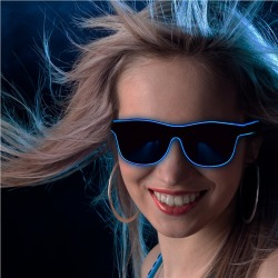 Blue Light Up EL Wire Eyeglasses by Windy City Novelties