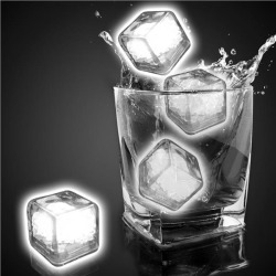 White Liquid Activated Light Up Ice Cubes by Windy City Novelties