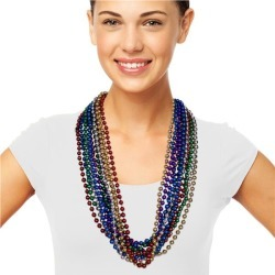 """Multi Color Bead 33"""" Necklaces by Windy City Novelties"""