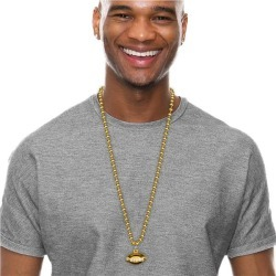 """Gold Bead Football 33"""" Necklaces by Windy City Novelties"""