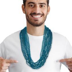 """Teal Bead 33"""" Necklaces by Windy City Novelties"""