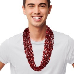 Red Chili Pepper Bead Necklaces by Windy City Novelties
