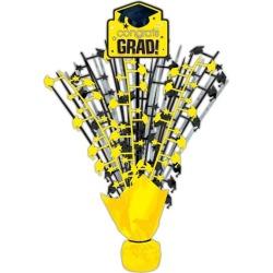"Yellow Congrats Grad 18"" Centerpiece by Windy City Novelties"