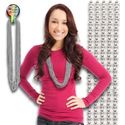 """Silver Bead 33"""" Necklaces by Windy City Novelties"""