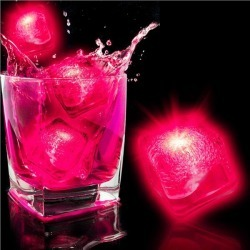 LED Neon Pink Ice Cubes by Windy City Novelties