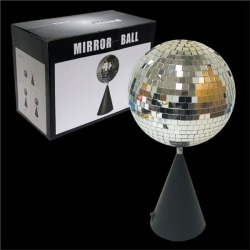 "Disco 6"" Mirror Ball On Rotating Stand by Windy City Novelties"