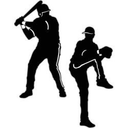 Baseball Player Silhouettes by Windy City Novelties found on Bargain Bro India from Windy City Novelties for $5.98