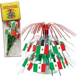 """Mexican Flag 7 1/2"""" Centerpiece by Windy City Novelties"""