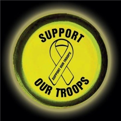 """Support Our Troops 3"""" Glow Badge by Windy City Novelties"""