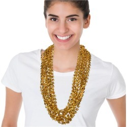 """Gold Bead Star 33"""" Necklaces by Windy City Novelties"""